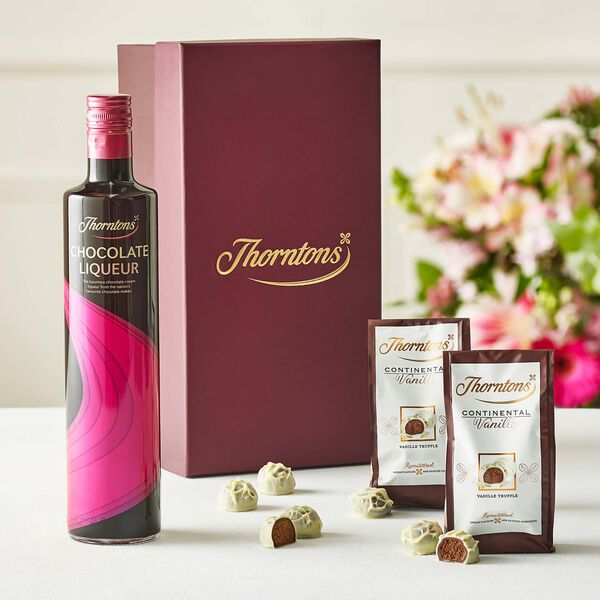 Chocolate Liqueur and Truffles Hamper Box
