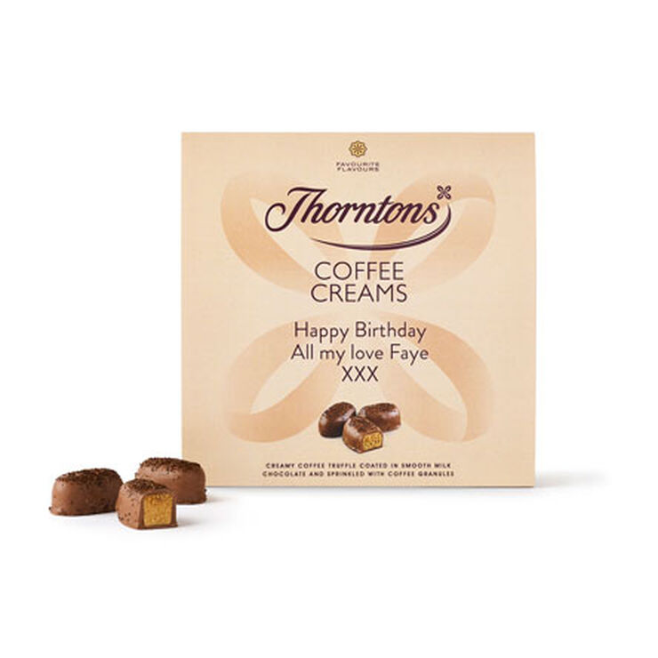 Personalised Coffee Creams Box
