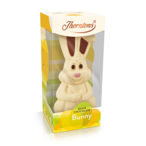Easter gifts chocolate thorntons white chocolate bunny model negle Images