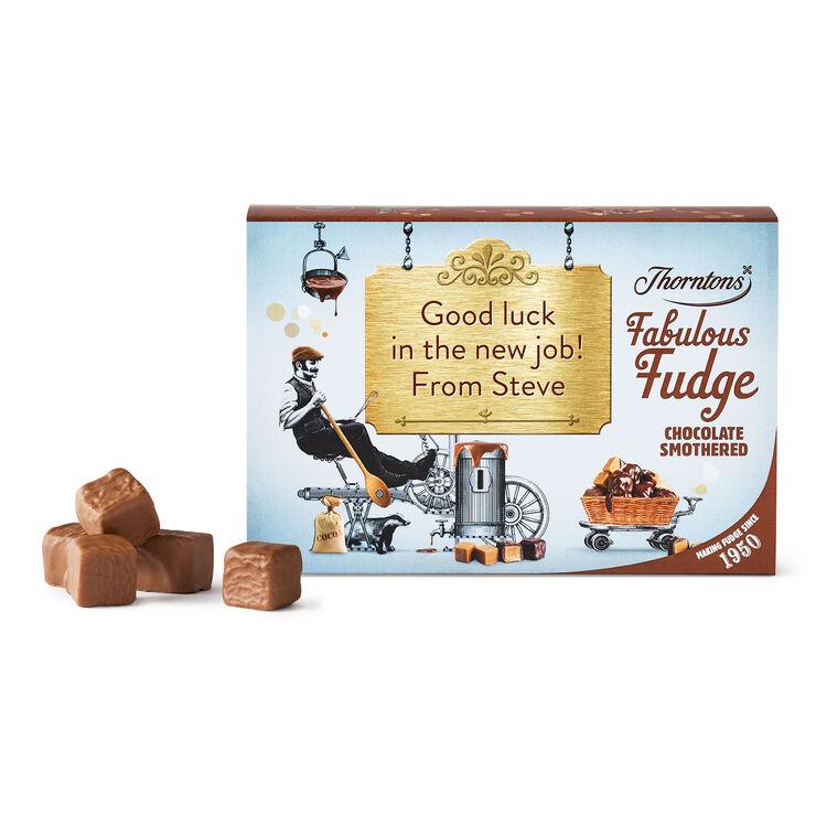 Personalised Chocolate Smothered Fudge Box