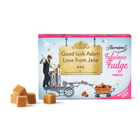 Personalised Vanilla Fudge Box
