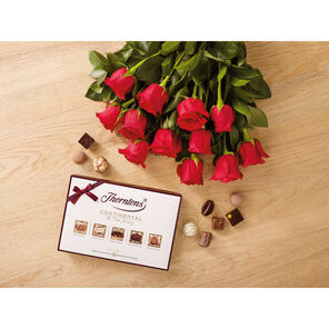 Dozen Red Roses and 142g Continental