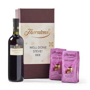 Personalised Red Wine Hamper