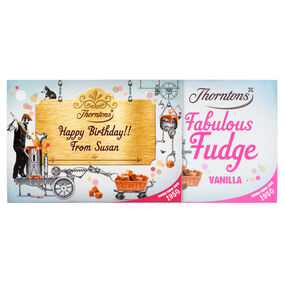 Personalised Vanilla Fudge Box