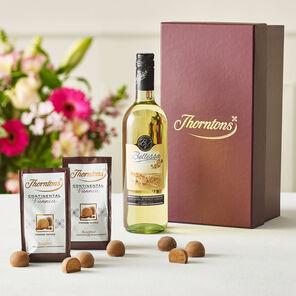 White Wine and Chocolate Hamper Box