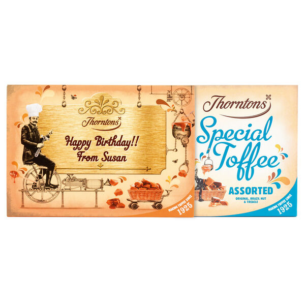 Personalised Assorted Toffee Box (500g)