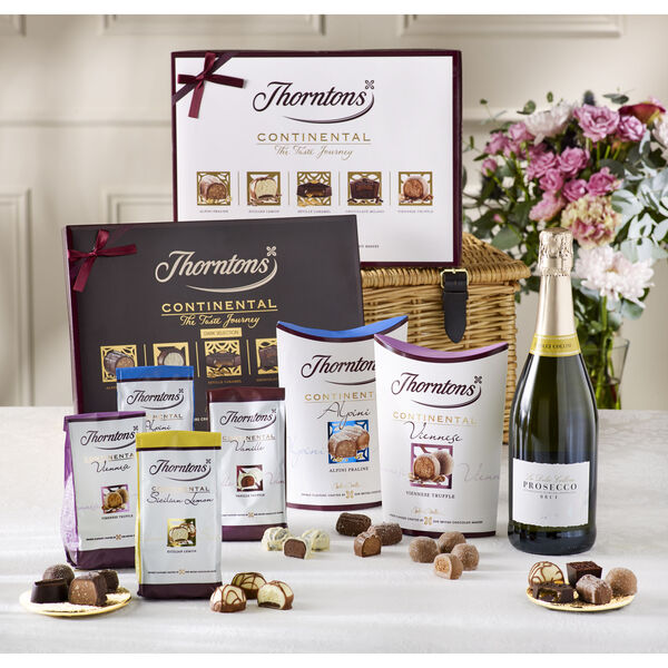 Prosecco & Continental Wicker Hamper