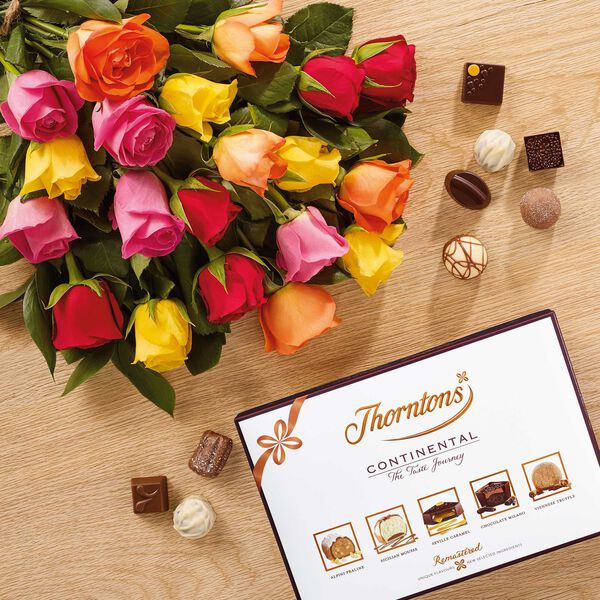 Premium Fanfare RosesBouquet & Continental Box