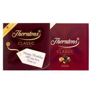 Personalised Dark Chocolate Classic Box (511g)