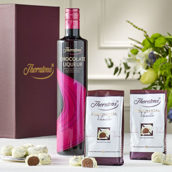 Chocolate Liqueur & Truffles Hamper