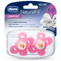 NaturalFit Comfort Shield 6-12M Set of 2 Pacifiers - Pink in