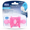 NaturalFit 12M+ Soft Silicone Orthodontic Set of 2 Pacifiers - Pink in