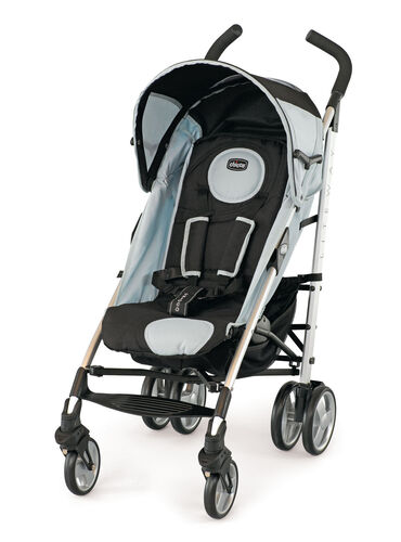 Chicco Liteway stroller romantic - black and light gray with white piping