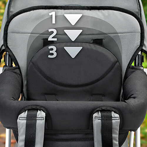 The height-adjustable seat on Smart Support Baby Carrier Backpacks provides support for your child as they continue to grow