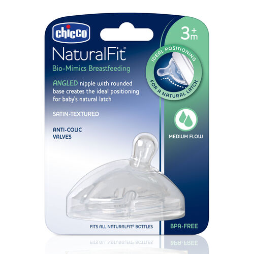 NaturalFit Nipple - 3m+ Angled Medium Flow in