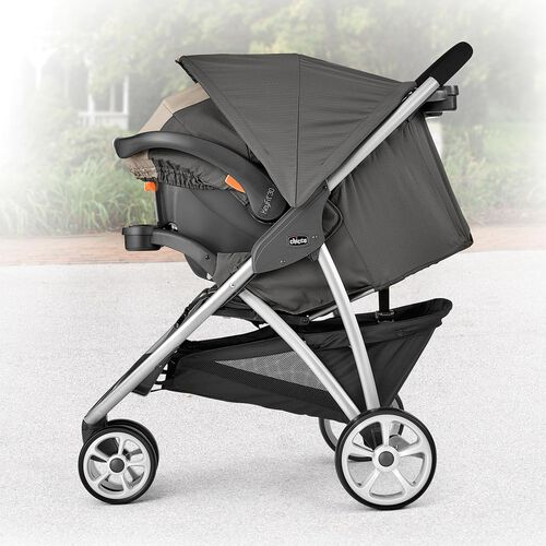 Extend the canopy on the KeyFit 30 infant car seat and the Viaro stroller for you full coverage when needed