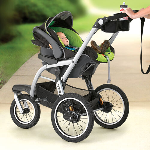 Ultra lightweight frame carrier option with removable seat pad for use with the KeyFit 30 Infant Car Seat