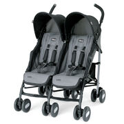 Chicco Echo Twin Stroller - Compact Double Stroller for twins available in coal gray and black - Twins Stroller