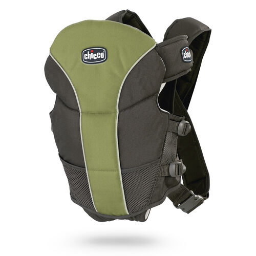 Chicco UltraSoft Baby Carrier in black and earthy green - Elm