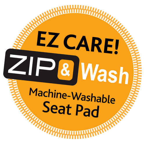 Zip & Wash badge graphic for Chicco NextFit Zip Convertible Car Seat