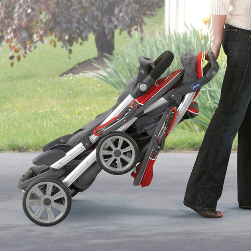 Cortina Together Double Stroller - Obsidian in