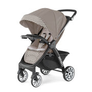 Chicco Bravo LE Stroller in tan and beige chevron pattern - Singapore style