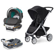 Mix & Match KeyFit 30 Magic Infant Car Seat - Isle + Bravo Stroller Bundle - Free Additional Base in