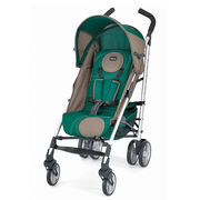 Chicco Liteway Stroller in dark forest green with beige accents - Juniper