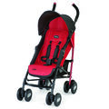 Chicco Echo Stroller in black and deep bright red - Garnet