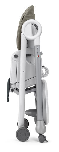 The Polly Progress highchair by Chicco has more compact fold than another other highchair in its classs