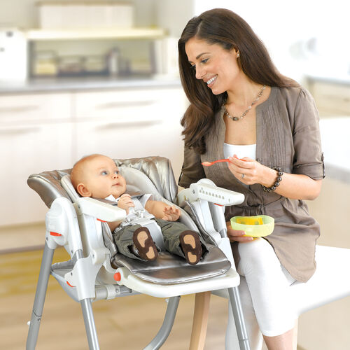 The Polly Magic Highchair's CradleRecline feature provides the perfect feeding position for infants