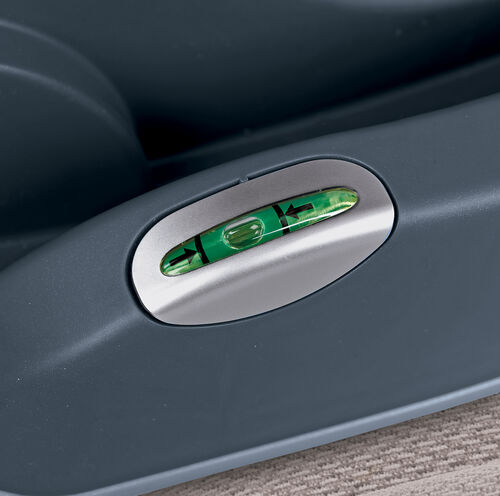 Bubble levels on the KeyFit 30 Infant Car Seat Base help you accurately measure the angle of installation