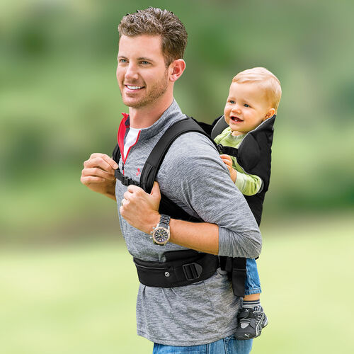 The Close To You Baby Carrier can also be worn as a backpack with baby riding behind you