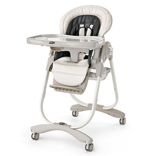 Chicco Polly Magic Highchair in black and white Solare style