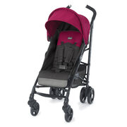Chicco Liteway Stroller in Dark Gray with Fuchsia Accents - Jasmine