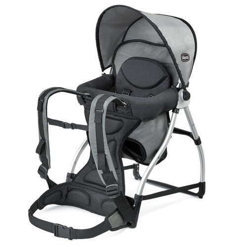 Chicco Smart Support Backpack baby carrier backpack in charcoal gray Graphite color