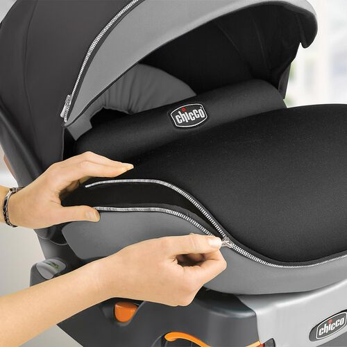 Chicco's KeyFit 30 Zip Infant Car Seat includes a zip-around all-weather boot to keep baby warm