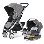 Chicco Lilla Bravo Stroller and KeyFit 30 Infant Car Seat and Base. Chicco Bravo Trio Travel System Lilla: muted brown with light pink polka dots