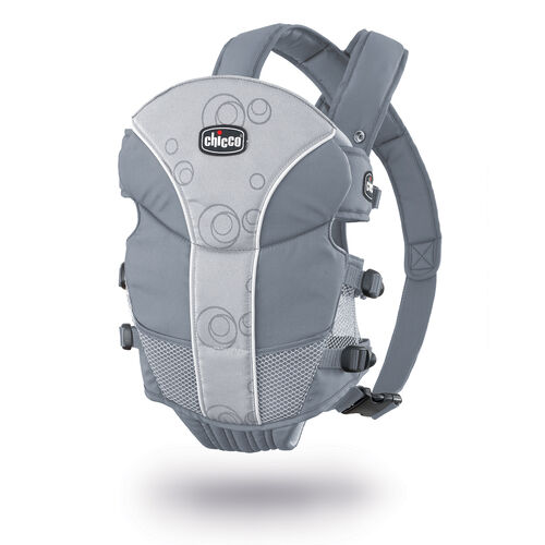 Chicco UltraSoft Baby Carrier in light gray with bubble pattern - Vega