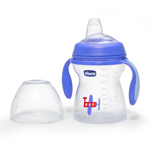 Chicco NaturalFit Transition Cup and Lid - Airplane