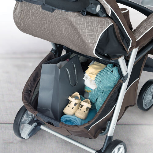 Storage basket on Chicco Cortina Magic Stroller