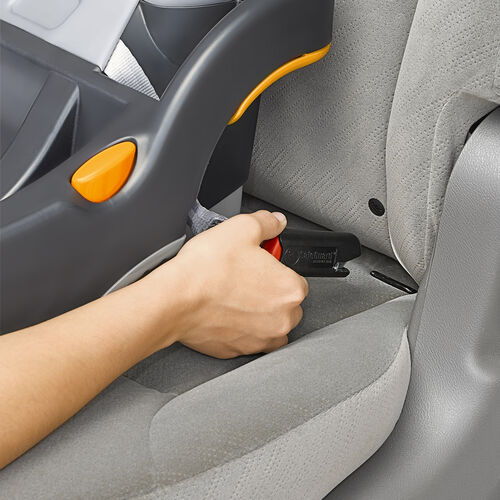 Use the latch connectors to secure the KeyFit 30 car seat base