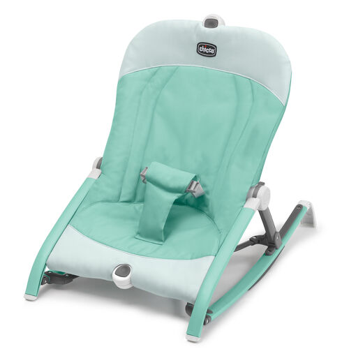 The new Pocket Relax portable rocker by chicco features 3 recline positions, easy assembly, and include carrying bag