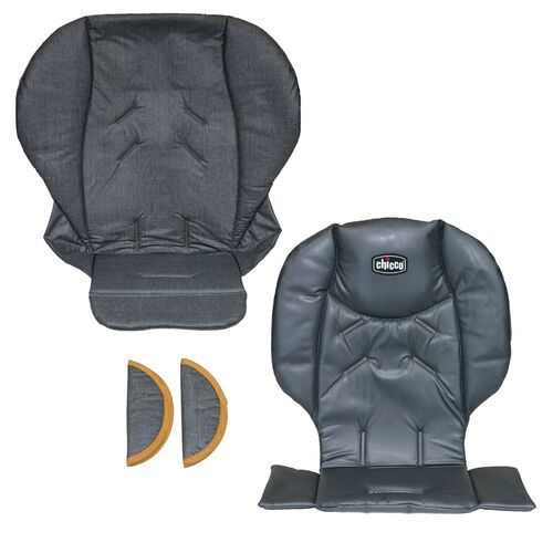 Replacement seat cushion, seat cover, and shoulder pads for Chicco Polly 2013 Highchair - Sedona