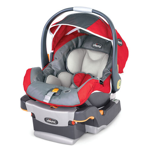 Chicco KeyFit 30 Infant Car Seat and Base in bright red with dark gray and light grey accents - Pulse style