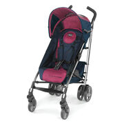The Liteway Plus stroller in blackberry features rich raspberry and black colors