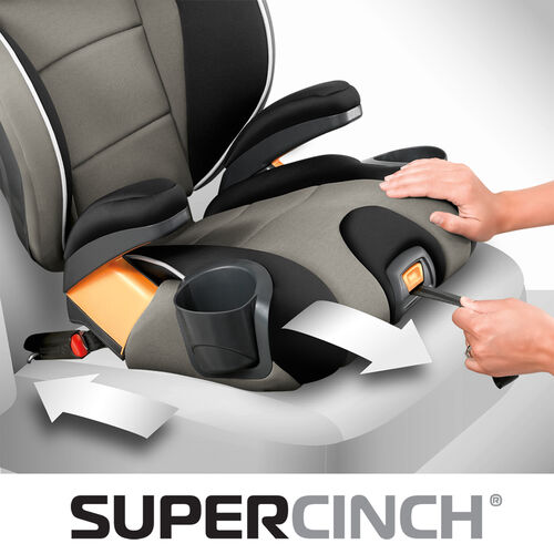 One-pull LATCH strap tightener keeps the KidFit Booster Car Seat firmly in place