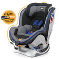 Chicco NextFit Zip Convertible Car Seat in black, royal blue, and silver textured fabric - Regio Style