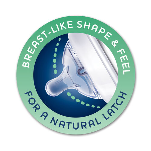 NaturalFit Nipple - 3M+ Medium Straight (2 pc set) in