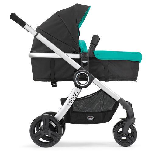 Chicco Urban 6-in-1 Modular Stroller configured as a forward-facing bassinet